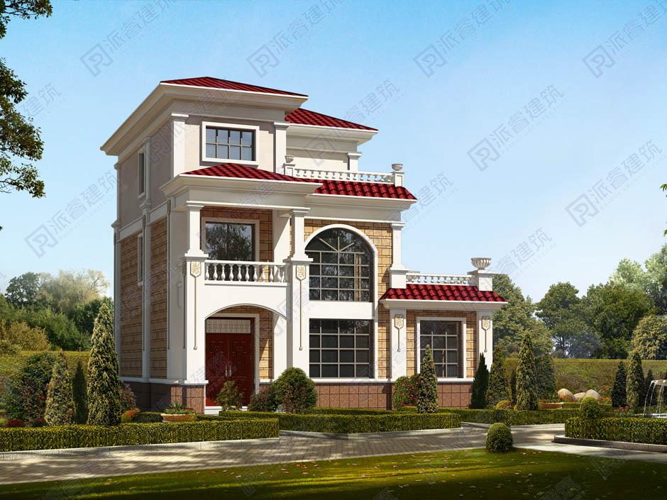 占地100平農村自建房屋設計圖紙整套施工圖,美式田園風格帶堂屋,側邊帶廚房-PR187