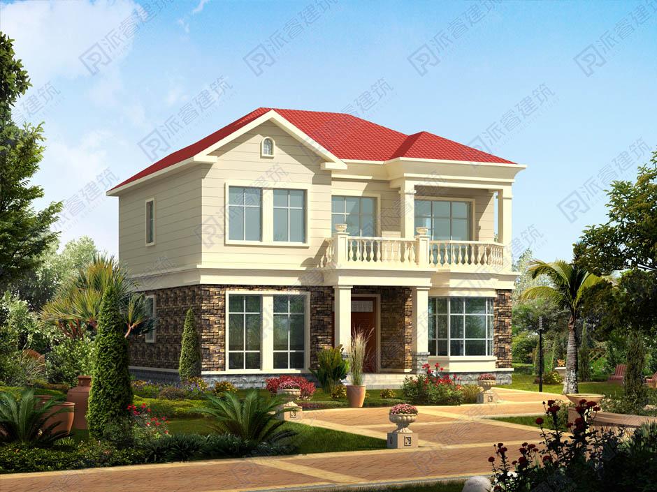 PR212 农村二层小别墅,实用美观别墅设计图片,新农村房屋设计,农村自建房别墅图片,派睿建筑
