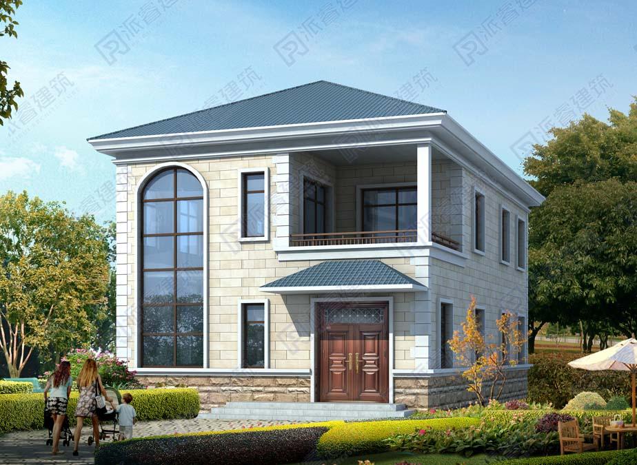 PR565-农村房屋设计图二层9米*15米|全明户型,两开间带大落地窗的盖房子设计图