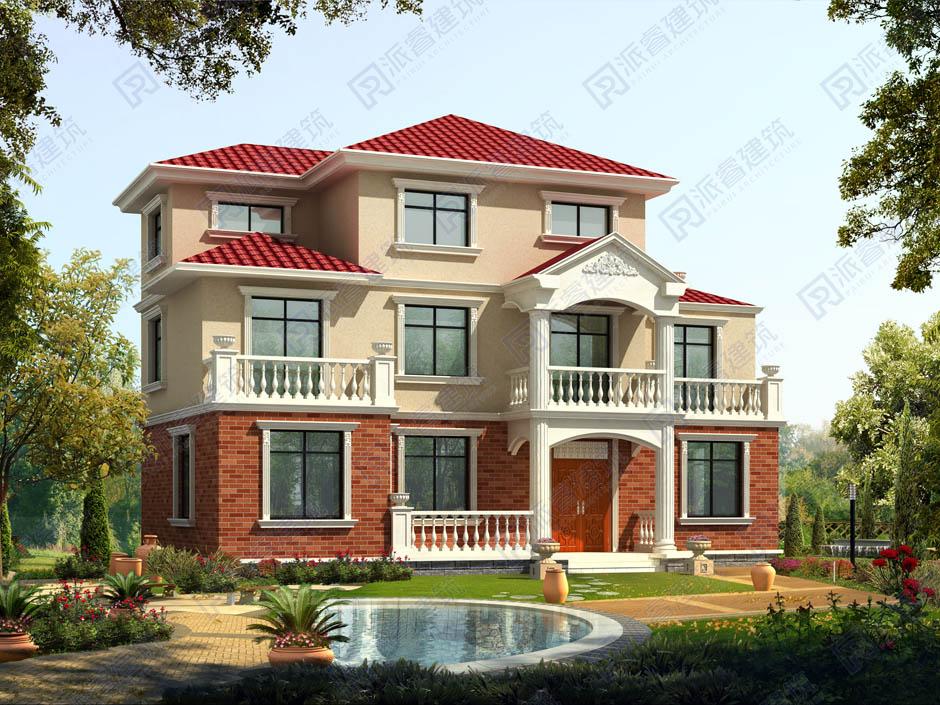 PR047 大气豪华的三层欧式别墅设计施工图纸