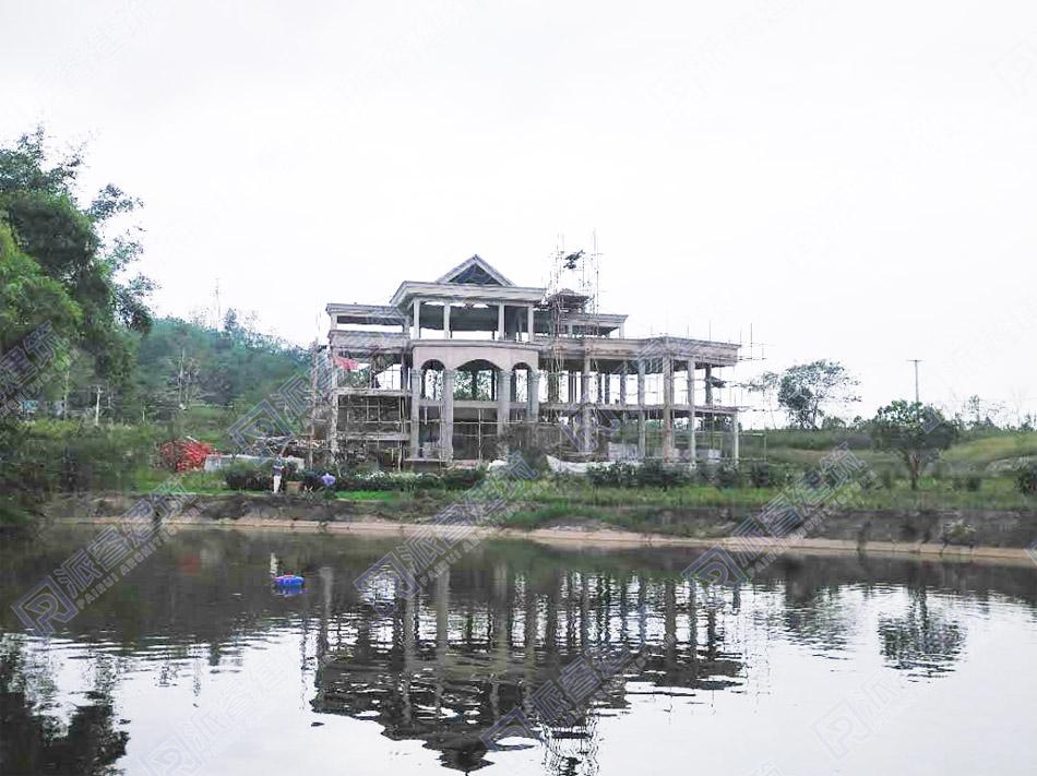 重庆-乡村湖边自建三层豪华欧式别墅设计图片,令人向往的观景豪宅
