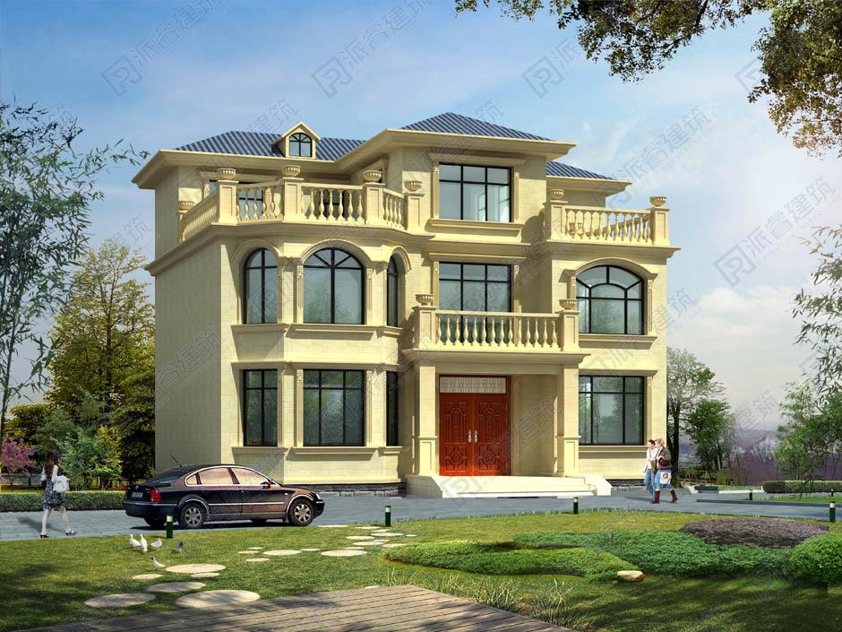 PR028 大气豪华的三层欧式别墅设计施工图纸