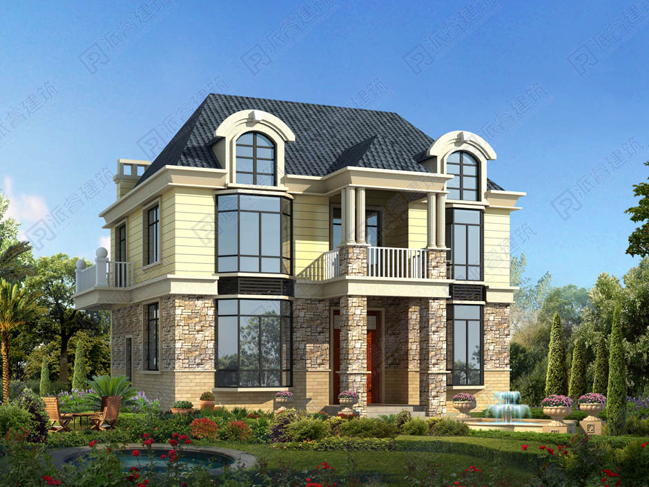 PR240 农村二层小别墅,实用美观别墅设计图片,新农村房屋设计,农村自建房别墅图片,派睿建筑