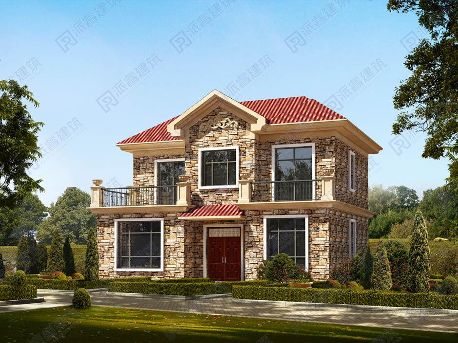 PR161 农村二层小别墅_别墅设计图纸,新农村房屋设计图,农村自建房设计,派睿建筑