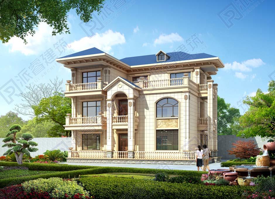湖南永州 于宅  三层欧式别墅效果图