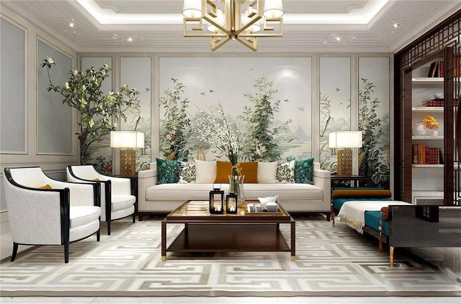 時尚新中式|400平鄉村三層自建別墅裝修設計效果圖