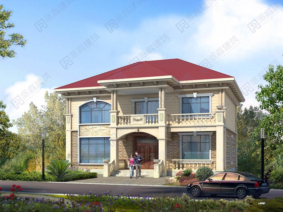 PR456 农村二层复式客厅大气美观别墅设计全套设计,施工图全套图纸-派睿建筑