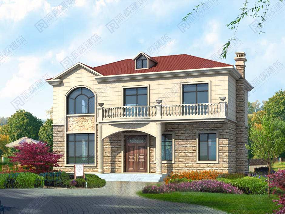 PR486-120平農村小別墅設計圖紙二層|帶堂屋_6室3廳2衛經濟實用型