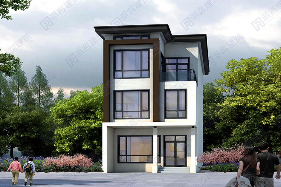 開間窄進深長的小面積農村自建房三層設計圖紙6米x16米-PR504