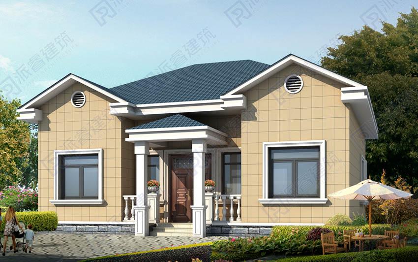 PR542-农村自建房设计图|带土火炕的农村平房设计图大全一层