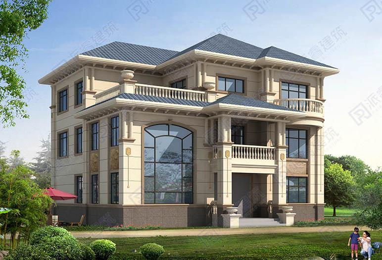 PR527-三层农村别墅设计图纸_占地190平带堂屋_农村自建别墅设计图