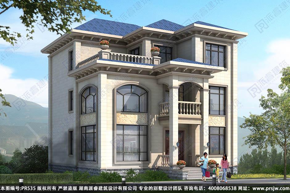 PR535-农村别墅设计图三层_豪华别墅设计图片_350平复式住宅