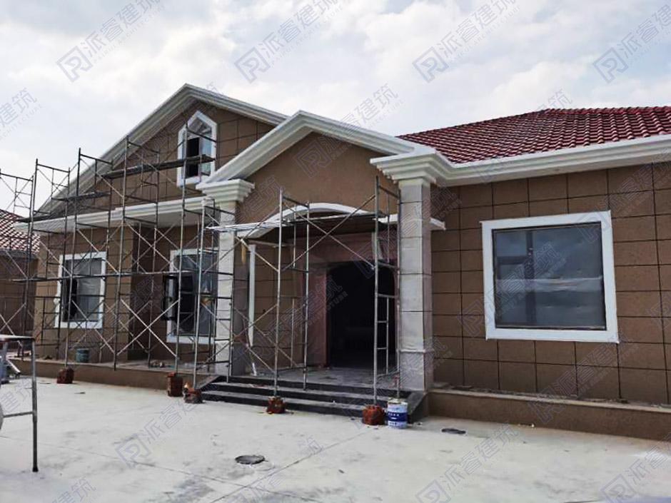湖南娄底-215平农村一层自建房实景图-PR300