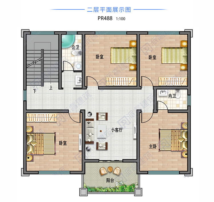 农村自建房屋设计户型图二层.jpg