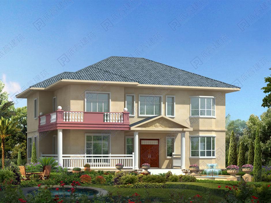农村自建二层楼房图纸及外观效果图,160平米房屋设计图卧室多的格局,适合人多的家庭-PR251