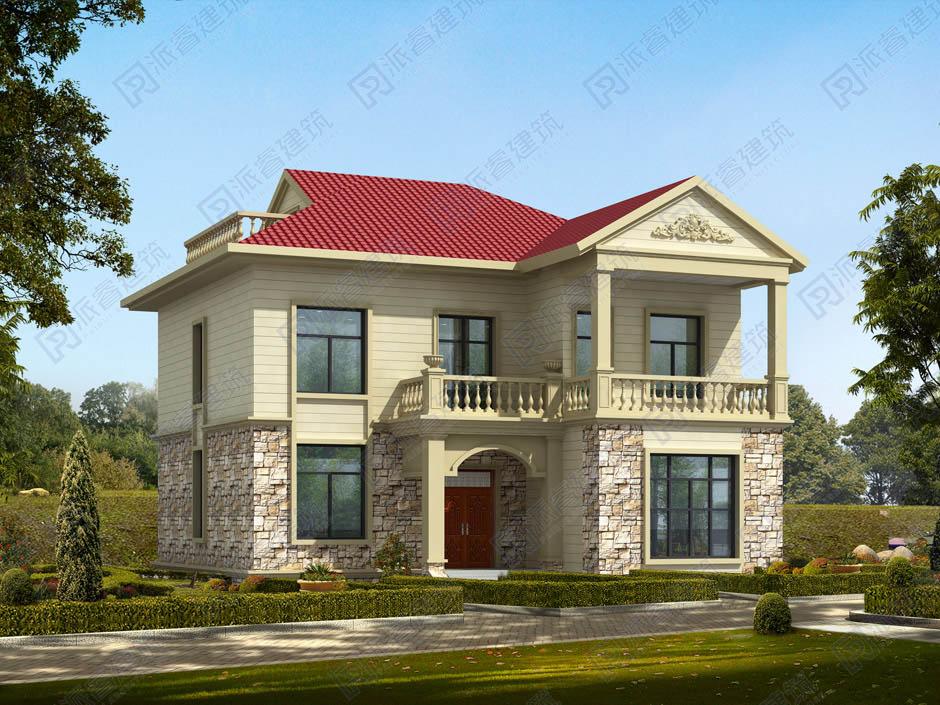 PR263 农村二层小别墅,简欧风格实用美观别墅设计图片,新农村房屋设计,农村自建房别墅图片,派睿建筑
