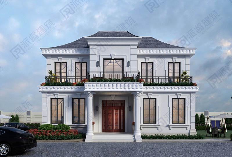 140平農村二層自建小別墅設計圖紙及外觀效果圖,精致法式風格,舒適格局-PR554