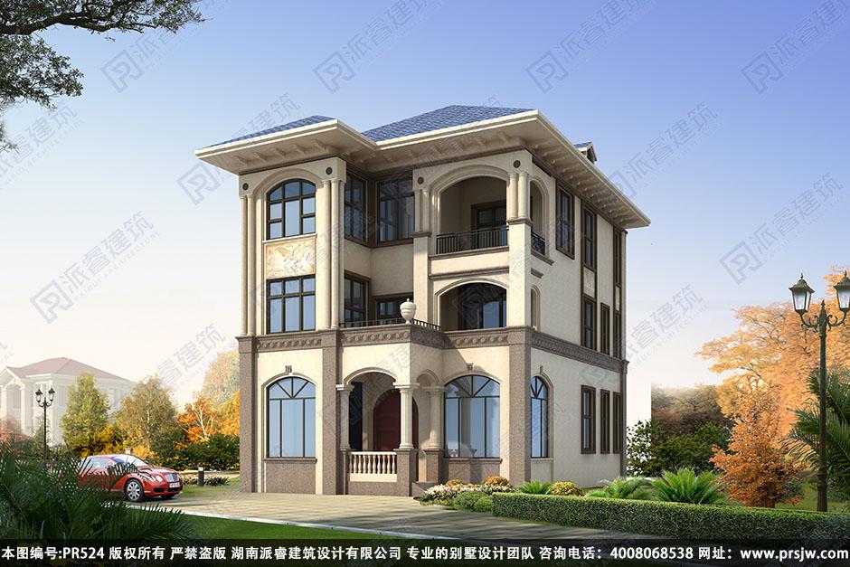 PR524-农村三层别墅设计图_超大卧室_农村别墅图片