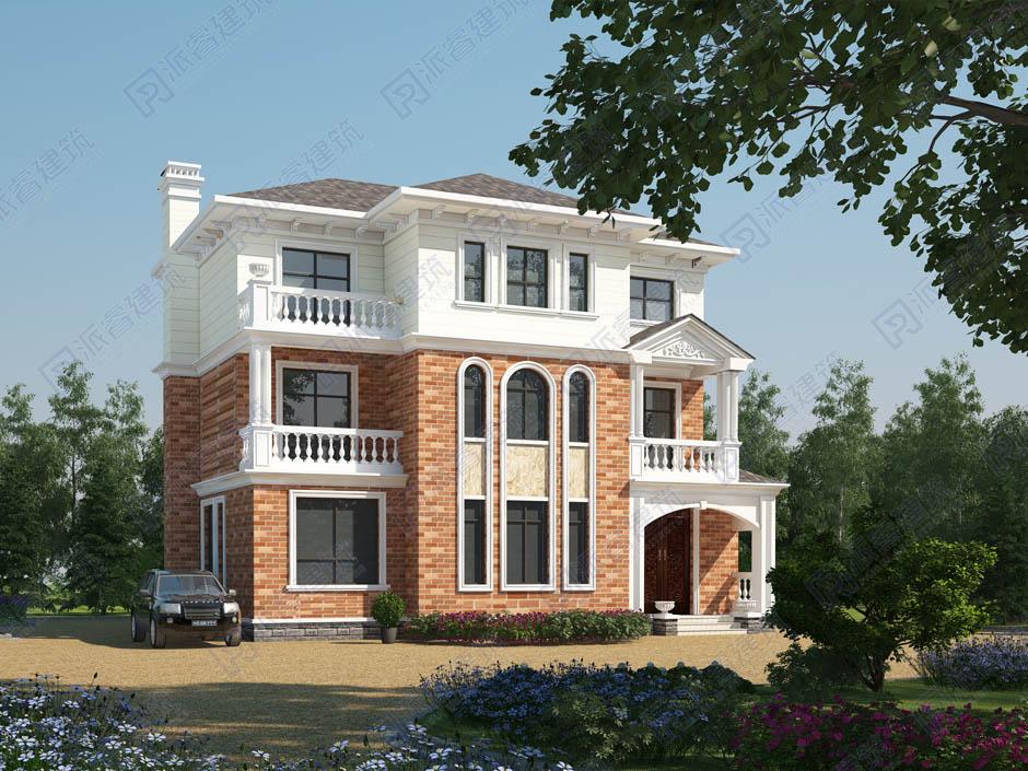 PR043 漂亮的三层复式别墅设计全套图纸