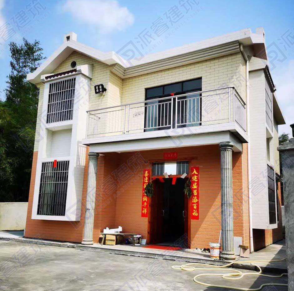 广西桂林-100平二层新农村自建别墅图片_农村自建房设计图-PR181