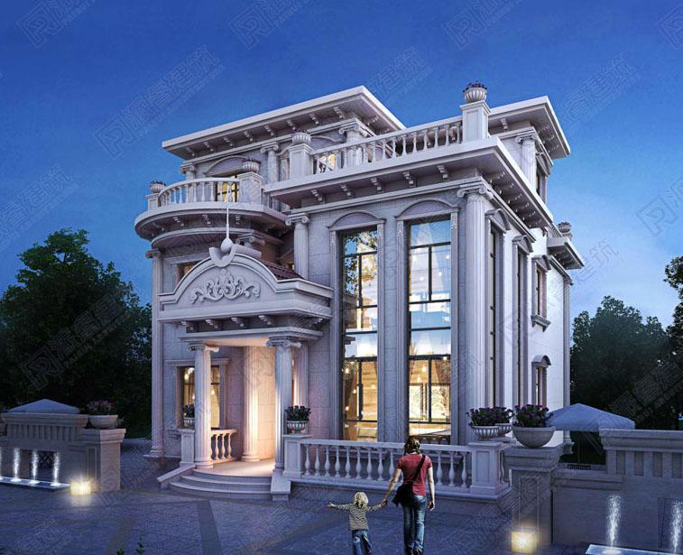 PR155- 农村自建三层欧式别墅设计图纸及效果图_派睿建筑图纸超市