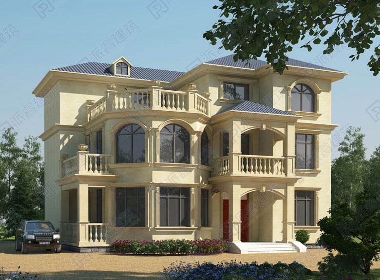 PR049 漂亮的三层别墅全套施工图及效果图
