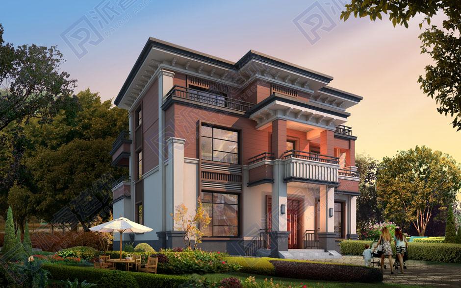 重庆市 童府 三层新中式别墅效果图