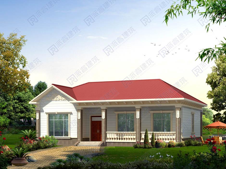PR224 15万造价农村一层独栋自建别墅户型图纸-派睿建筑