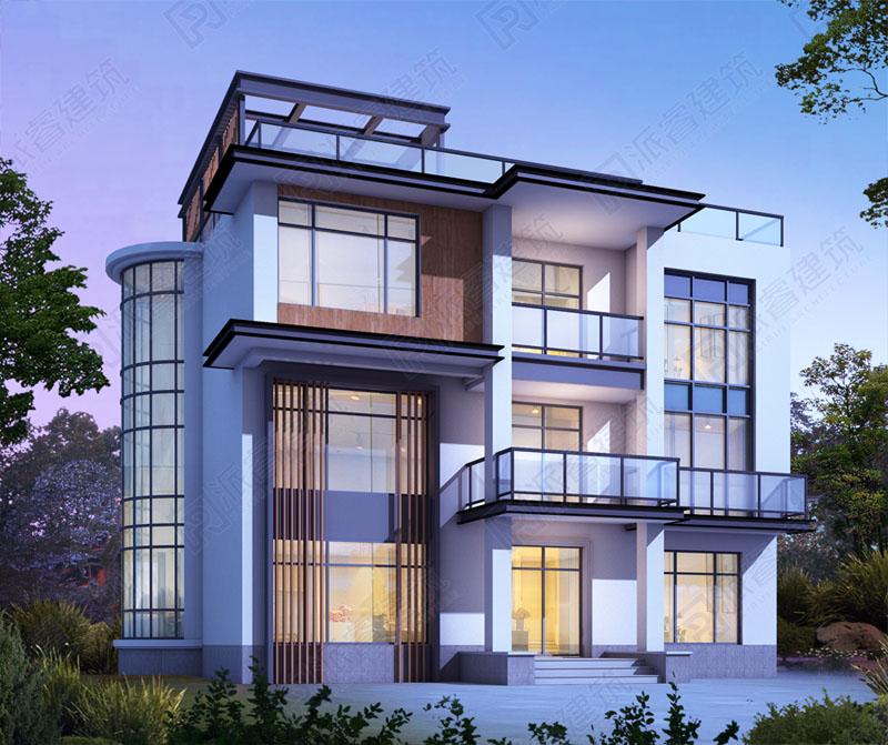 PR499-农村现代风格别墅设计外观图_现代极简风格别墅爆款