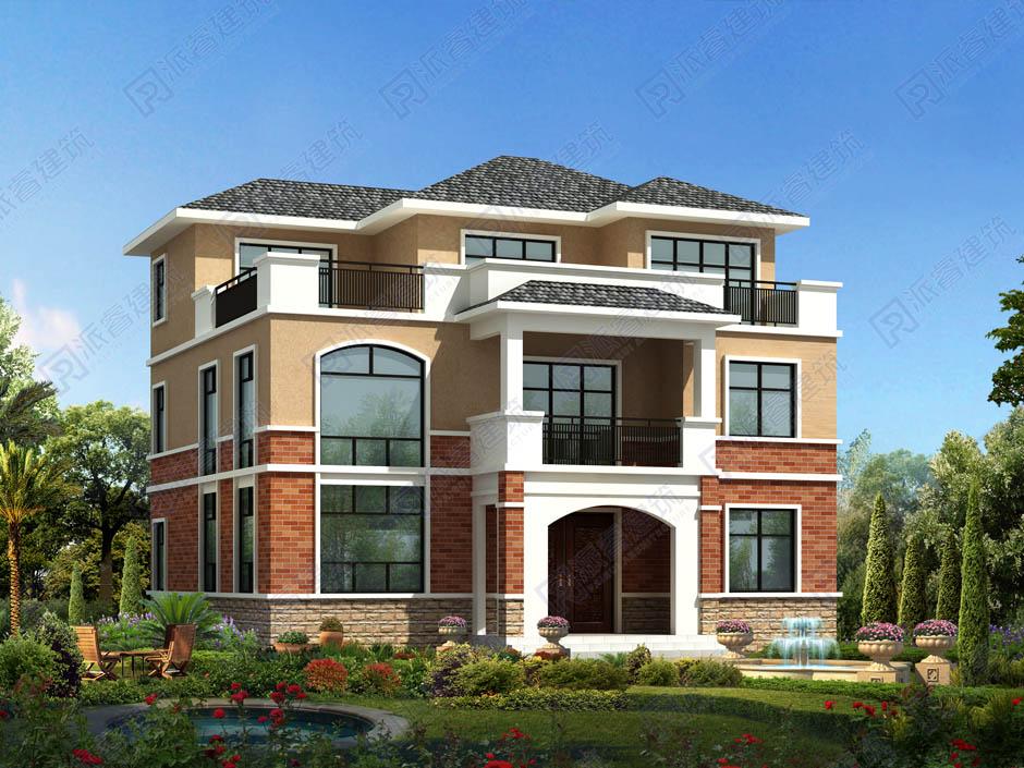 PR005 简单实用的三层农村自建房设计图纸简欧式三层半农村自建房小洋房小户型