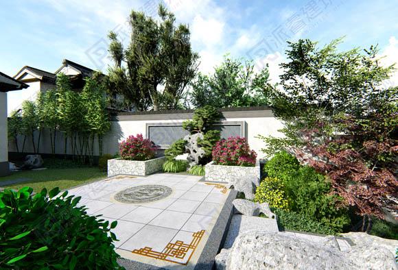 PR702-中式庭院景观设计效果图|中式韵味,美到心醉-派睿建筑