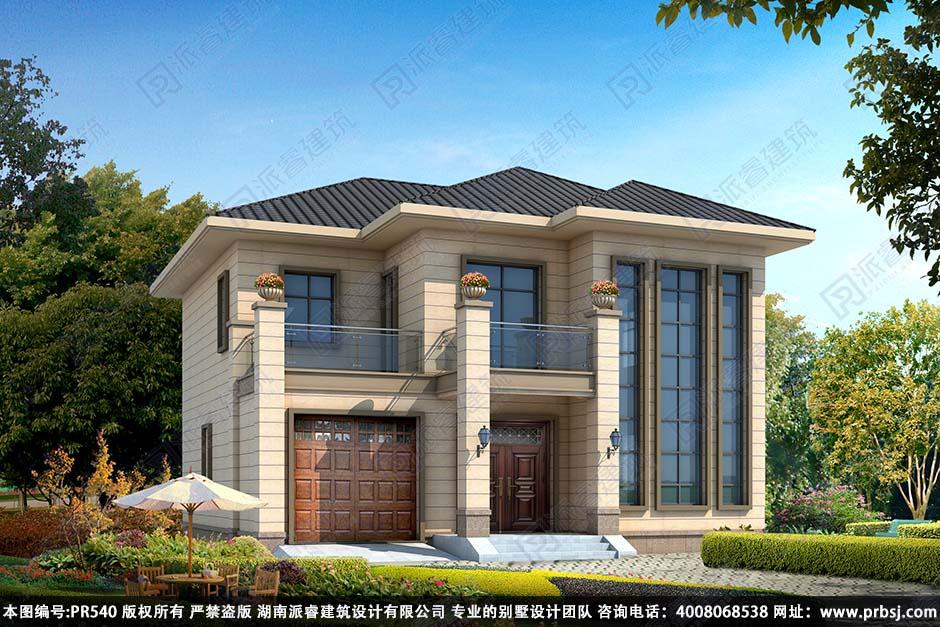 PR540-农村二层房屋设计图|占地130平带车库_两层复式别墅设计图纸