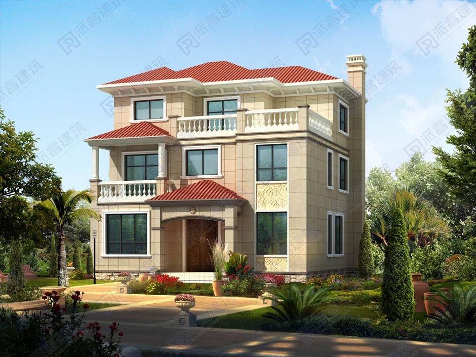 PR045 农村三层带露台自建房屋设计图