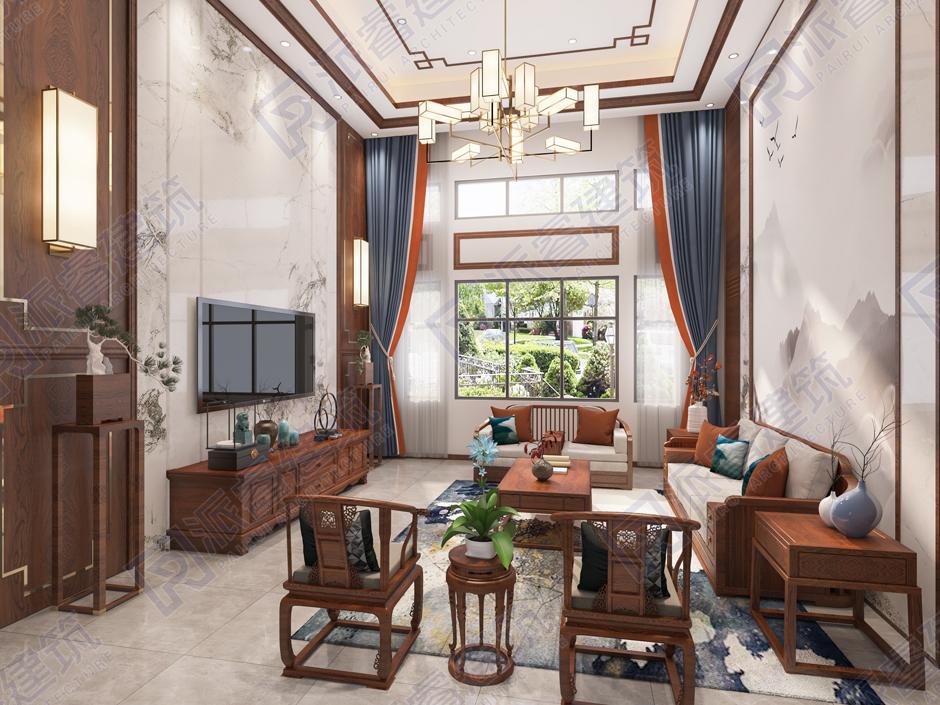 PR347 160平米新农村2层高端新中式室内装修图