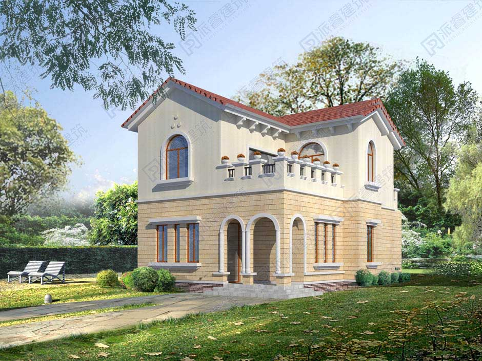 PR334 110平米造价15万农村二层别墅设计平面效果图-派睿建筑